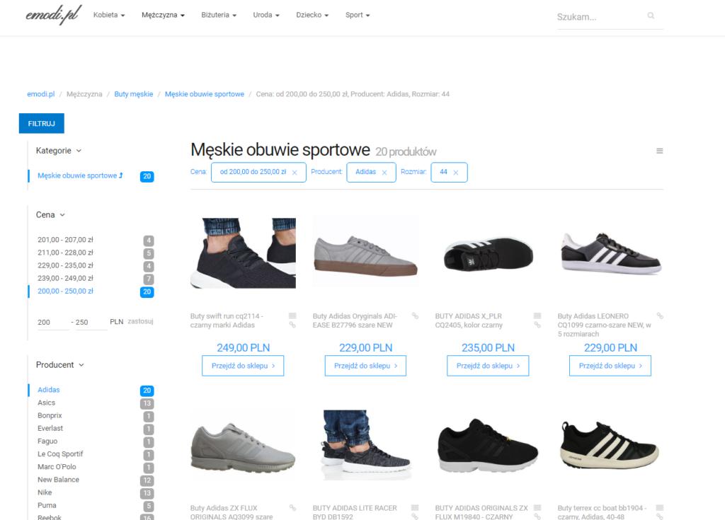 buty adidas 200-250zł